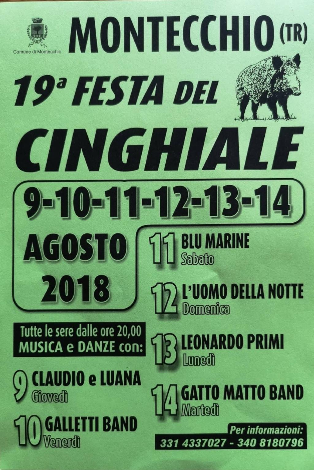 19^ Sagra del cinghiale di Montecchio - 2018